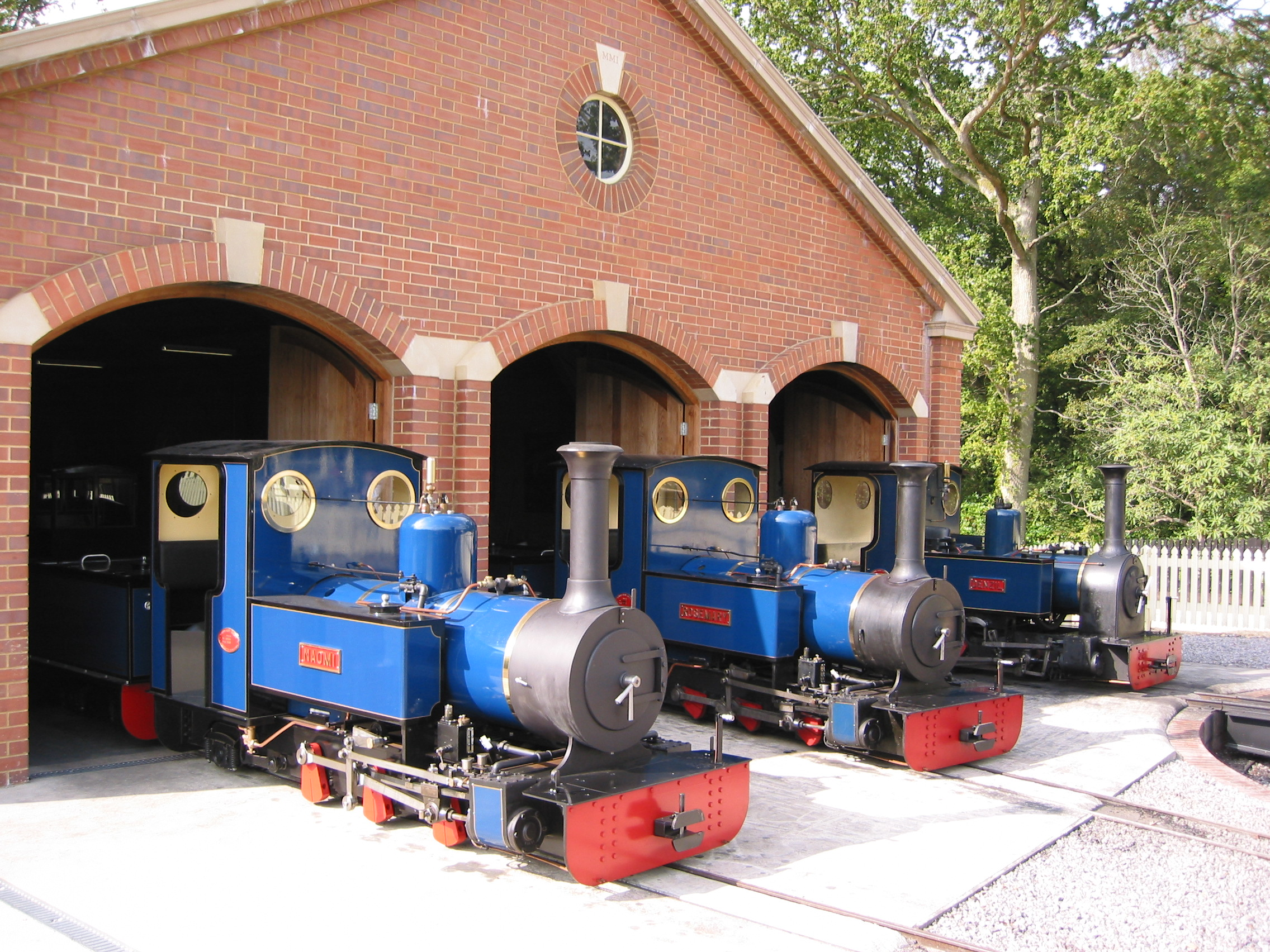 The Exbury Engine Shed will open for visitors with walk through displays in 2010